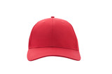 Baseball cap red templates, front views isolated on white background - 180777945