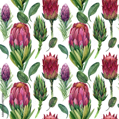 Fototapeta flowers seamless pattern. watercolor floral composition for congratulations