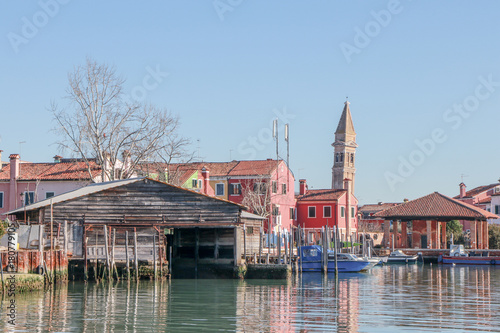 Foto op Plexiglas Venetie Пизанская башня в Венеции