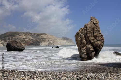 In de dag Cyprus Aphrodite's rock, Paphos, Cyprus