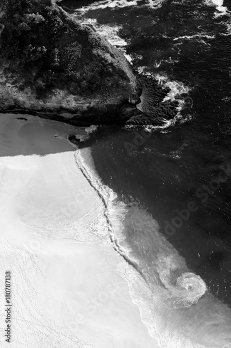 Fotobehang Grijze traf. Aerial view to cliff at tropical island