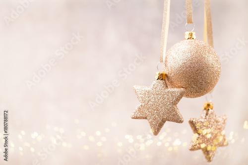Staande foto Bol Christmas. Christmas decor and greeting card. Symbol xmas.