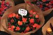 Roses at a flower market