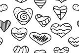 Hipster doodle hearts