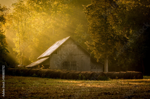 Foto op Canvas Honing Old Barn