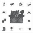 Picnic Basket Icon. Set of camping icons