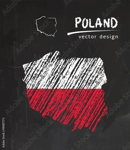 polska-mapa-z-flaga-wewnatrz-na-tablicy-kreda-szkic-ilustracji-wektorowych