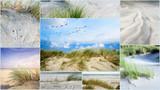 Collage: Nordsee, Strand auf Langenoog: Dünen, Meer, Entspannung, Ruhe, Erholung, Ferien, Urlaub, Meditation :)  - 180818940