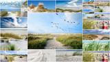 Collage: Nordsee, Strand auf Langenoog: Dünen, Meer, Entspannung, Ruhe, Erholung, Ferien, Urlaub, Meditation :)  - 180819155