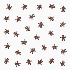gingerman pattern on white background. flat design style. vector background design.