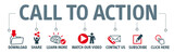 Set of vector icons - call to action - 180837145