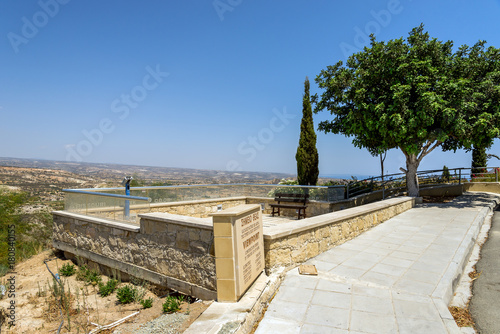 Fotobehang Cyprus Pissouri viewpoint tourist spot with amazing panorama, between Limassol and Paphos, Cyprus