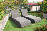 Two sunbeds to relax in the garden - 180841709