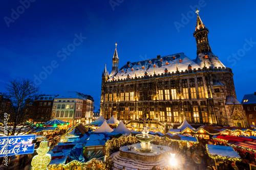 Deurstickers Praag Aachen Weihnachtsmarkt