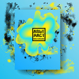 Abstract blue and yellow background. Dynamic fluid effect Vector illustration. Ectoplasm design template.