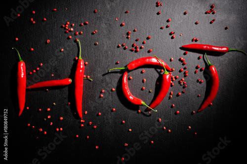 Foto op Aluminium Hot chili peppers hot