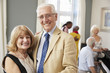 Portrait Of Senior Couple Enjoying Dancing Club Together
