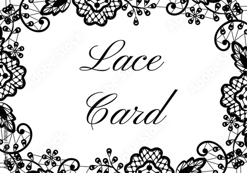 lace border card - 180861543