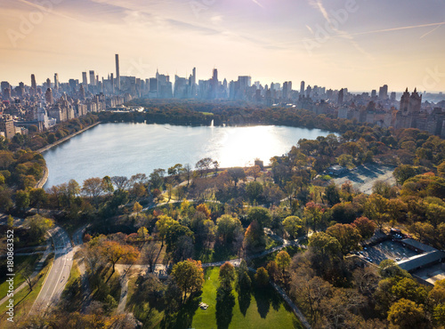 Poster New York New York panorama from Central park, aerial view