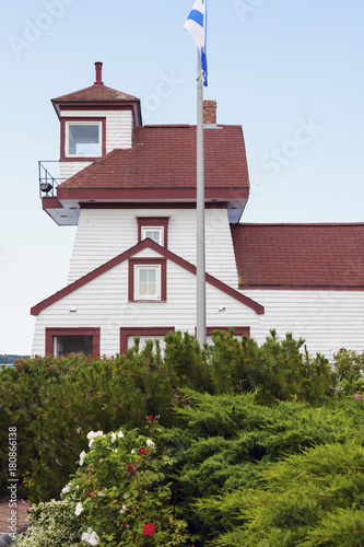 Fort Point Lighthouse in Liverpool, Nova Scotia Poster