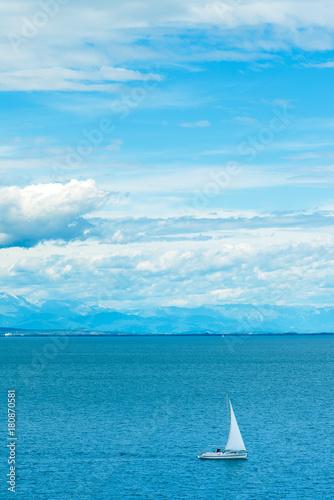Plexiglas Zeilen Sailing boat at sea