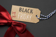 text black friday big sale in a paper label