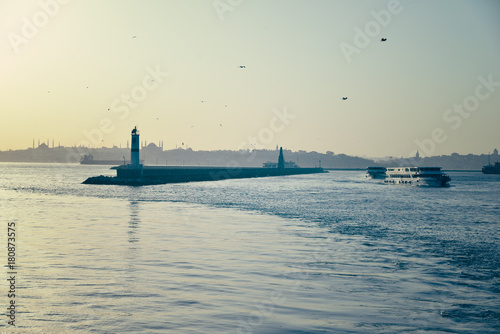 Fotobehang Schip The Marmara Sea