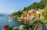 Flowers at Varenna, Lake Como, Italy - 180874301