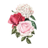 Bouquet of flowers,  can be used as greeting card, invitation card for wedding, birthday and other holiday and  summer background - 180877798