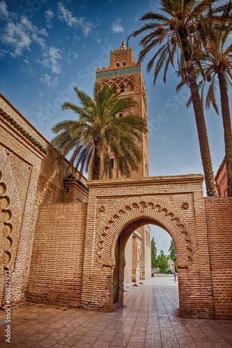 Papiers peints Maroc Mosque Koutoubia Marrakech