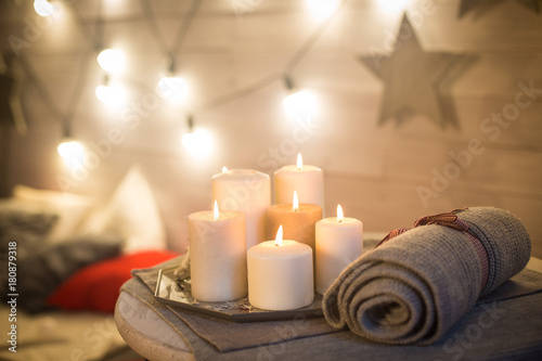 candles in the interior - 180879318