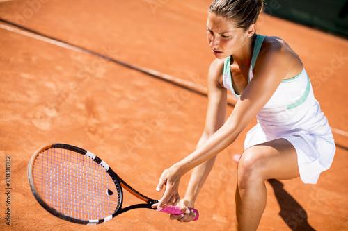 Aluminium Tennis Pretty young tennnis player