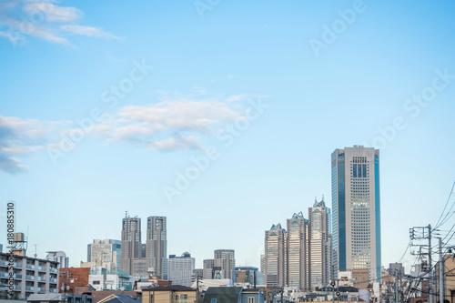 下町から見る高層ビル Tokyo skyscraper seen from the downtown