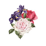 Bouquet of flowers,  can be used as greeting card, invitation card for wedding, birthday and other holiday and  summer background - 180890183