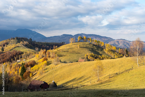Foto op Canvas Honing Autumn in Moeciu village, Transylvania, Romania