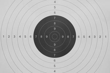 gun shooting paper target