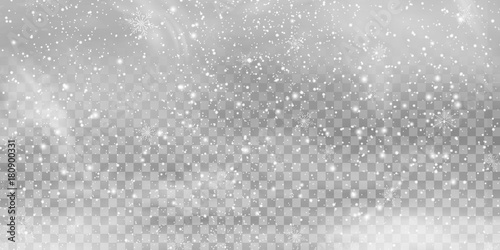 Falling Christmas Shining transparent beautiful, little snow isolated on transparent background. Snow flakes, snow background. heavy snowfall, snowflakes in different shapes and forms.