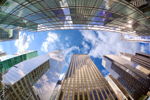 Manhattan skyscrapers in New York City