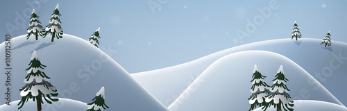 Foto op Aluminium Blauwe hemel Winter banner
