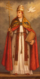 LONDON, GREAT BRITAIN - SEPTEMBER 17, 2017: The painting of pope St. Gregory the Great the doctor of west catholic church in church St. Martin, Ludgate (about 1900 by unknown Belgian artist). - 180913594