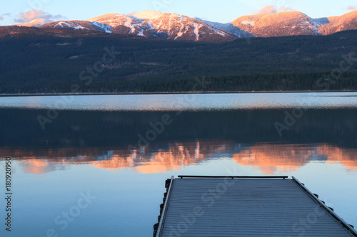 Alpenglow and Dock Poster