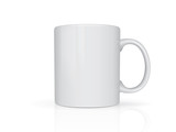 Realistic mug mock up vector template Easy to change colors - 180922352