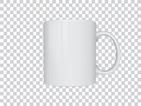 Realistic mug mock up vector template Easy to change colors - 180922379