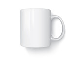 Realistic mug mock up vector template Easy to change colors - 180922385