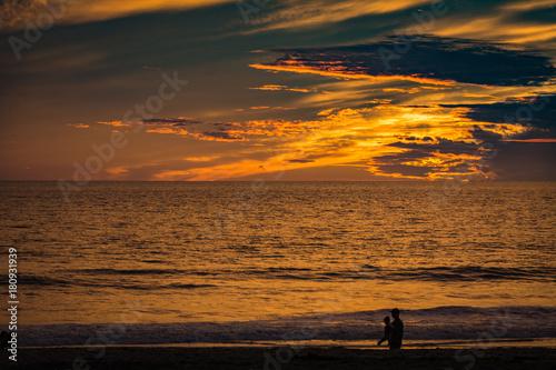 Fotobehang Zee zonsondergang Carlsbad State Beach Sunset