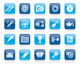 Different Car part and services icons - vector icon set