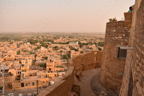 Poster view of jaisalmer city from jaisalmer fort rajasthan india