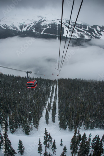 Aluminium Canada Peak to peak cable car at Whistler, Canada