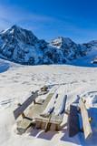 Snow in winter season, mountains. South Tirol, Solda in Italy. - 180955520