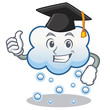 Graduation snow cloud character cartoon